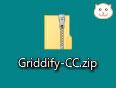 Griddify-CC.zipというファイルがダウンロードされます。